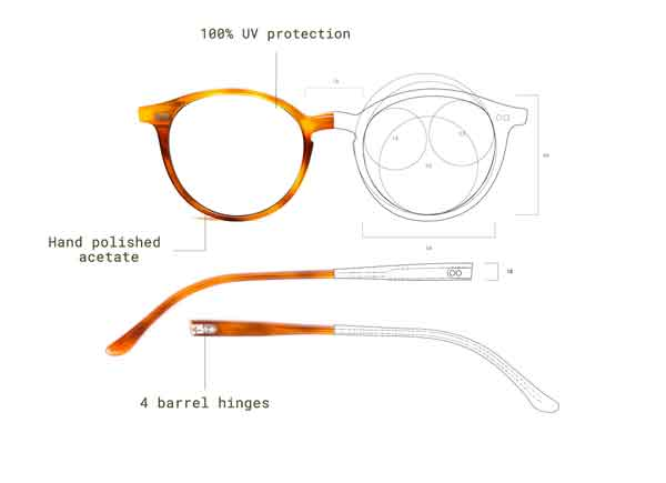 Designed eyewear, handcrafted in Italy